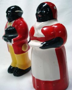 Aunt Jemima and Uncle Moses Salt and Pepper Shakers!