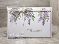 Stamp A Latte Leanie Schrader Sharing Memories of my Mum and a new card using the Lots of Lavender Sale-a-bration Stamp Set from Stampin Up! Join me for my free Crafternoon!