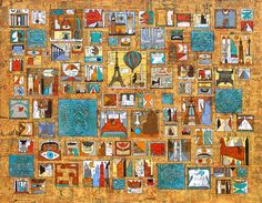 Serie Encyclopaedia, Europa 2009, Öl auf Leinwand, 130x160 Wlad Safronow Your Art Show