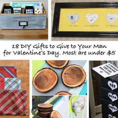 18 DIY Gifts to Give Your Man for Valentine's Day. Most are under $5. howdoesshe.com