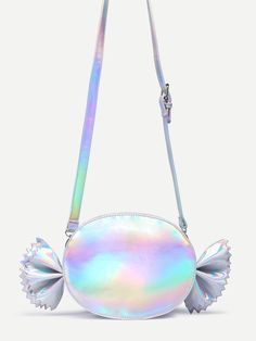 Shop Iridescent Candy Shaped Crossbody Bag online. SheIn offers Iridescent Candy…