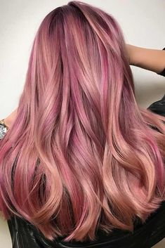 #Color Trendy Hair Color : Rose gold hair color will definitely make you stand out