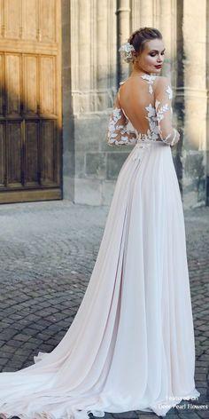 ec44353e85be4 FILISI - A-line Backless Wedding Dress with Long Train