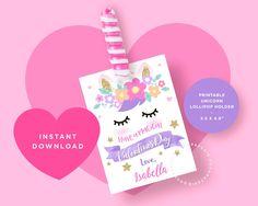 Unicorn Valentine Cards, Valentine Hats, Valentine Crafts For Kids, Homemade Valentines, Funny Valentine, Valentine Day Cards, Valentine Ideas, Valentine Stuff, Printable Valentine