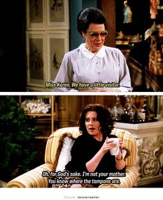 Karen Walker Quotes, Anastasia Beaverhausen, Karen Memes, Comedy Movies, Films, Will And Grace, Television Program, How To Be Likeable, Tv Quotes