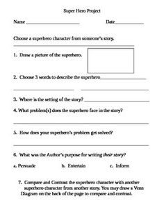 This is a 2 page product that can be used with a writing project to help students share and compare their stories.