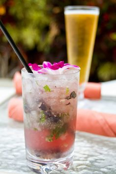 The most delicious drink I have had to date...a blueberry mojito from Maui.