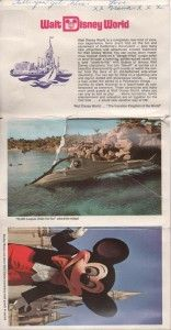 Take a look at this vintage WDW Post card book sent to me when I was just a little girl :)
