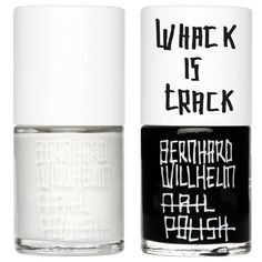 Uslu Airlines KTT & IAH Bernhard Willhelm Nail Polish Set (504.180 IDR) ❤ liked on Polyvore featuring beauty products, nail care, nail polish, nails, beauty, makeup, fillers, uslu airlines nail polish, black nail polish and uslu airlines
