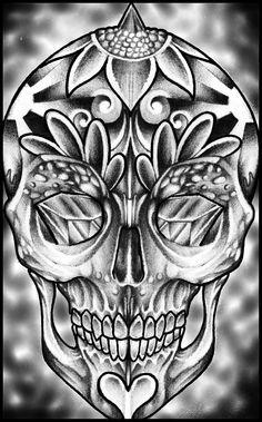 Sugar+Skull+by+thirteen7s.deviantart.com+on+@deviantART