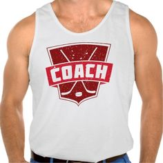 Hockey Coach Retro Style Shield Tanktop Tank Tops