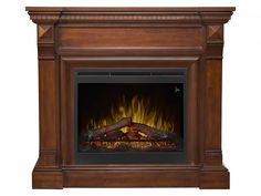 Dimplex Noah 47 in. Freestanding Electric Fireplace in Espresso (Brown) Fireplace Mantel Surrounds, Faux Fireplace, Fireplaces, Free Standing Electric Fireplace, Television Console, Solid Pine, Traditional Design, Espresso, Brown