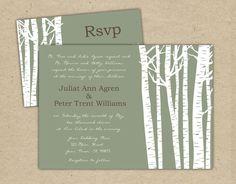 Custom Wedding Invitation Birch Tree customize by Bejoyfulpaper, $32.00