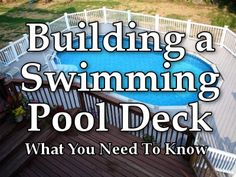 Thinking about a getting a deck? Everything you need to know about building your perfect backyard deck. #swimming #diy