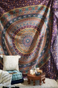 A tapestry or two.   39 Impossibly Trippy Products You Need In Your Home