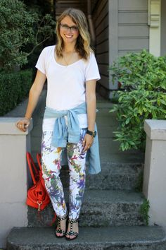 Floral with a touch of denim!