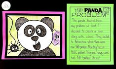 After reading the Panda Problem, students complete a directed drawing and write all about the story with this FREEBIE.