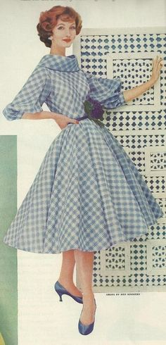 More maidly inspiration with this 1958 dress. This retro dress style is both pretty *and* wearable! Why did this silhouette ever go out of fashion? Boo, fashion.