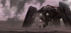http://coolvibe.com/wp-content/uploads/2013/03/Sci-fi-Art-Matt-Allsopp-Drop-Ship-Touchdown.jpg
