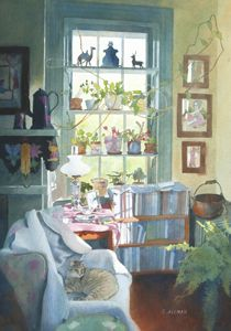 Artful Interiors ◇ Paintings Of Beautiful Rooms   Cynthia Allman |  Protected Area