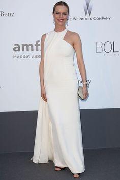 2013 - Eva Herzigova in Dior at the #amfAR Gala 2013 in Cannes