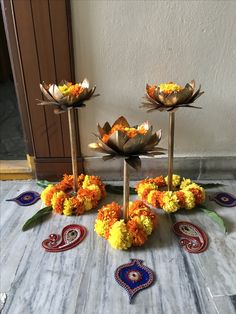 Charming Indian Decor Ideas For Home 38 Rangoli Designs Flower, Rangoli Ideas, Flower Rangoli, Rangoli Patterns, Diwali Decorations At Home, Festival Decorations, Flower Decorations, Diwali Decoration Items, Indian Decoration