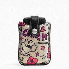 Super cute! // COACH Electronic/Cell Phone Case, starting at $25. -xoxo Matilda
