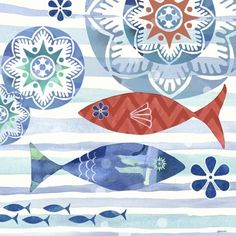 La Mer Fish Coastal by Jennifer Brinley | Ruth Levison Design