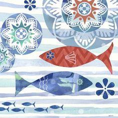 La Mer Fish Coastal by Jennifer Brinley | Ruth Levison Design