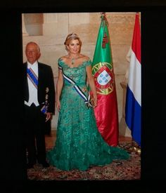 King Willem Alexander and Queen Maxima attend the state banquet in their honor in Portugal. Oct. 10, 2017