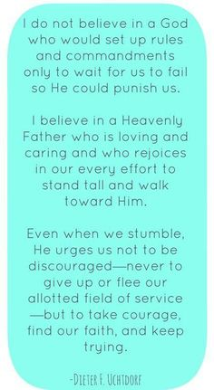 God is loving. ..