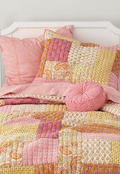 handpicked floral patchwork quilt