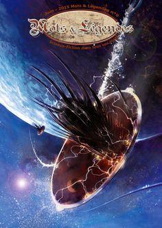 """Couverture réalisée par Pascal Vitte pour Mots & Légendes 9 sur le thème de """"Science-Fiction dans tous ses états""""."""