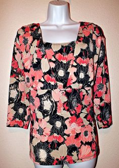 East 5th Casual Floral Women's Top Blouse Tunic Size 2x #East5th #Tunic #Casual