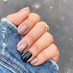 Fall Gel Nails, Get Nails, How To Do Nails, Gorgeous Nails, Pretty Nails, Nail Color Combos, Fall Nail Colors, Gel Color, Nail Polish Art