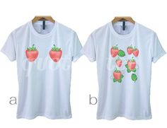 e7f8d7ede6a3 Strawberry shirt women fruit tshirt -boobies shirt S M L XL funny  strawberries boob tshirt- short