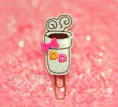 DONUTS COFFEE Paper Clip by LittleMissDaisyrose on Etsy
