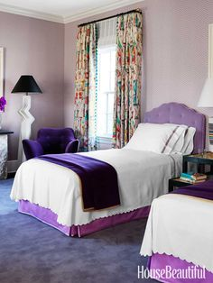 guest bedroom ideas 10 Purple Bedroom Ideas - Lavender and Lilac Bedroom Decor Ideas Lilac Bedroom, Purple Bedrooms, Master Bedroom, Modern Bedroom, Girls Bedroom, Guest Bedroom Decor, Guest Bedrooms, Bedroom Ideas, Guest Room