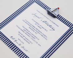 nautical baptism invitation | Nautical Resin Boat Christening Invitation - Le Petit