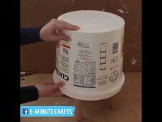 Como fazer um puff com balde - YouTube