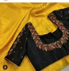 Saved by radhareddy garisa Pattu Saree Blouse Designs, Blouse Designs Silk, Designer Blouse Patterns, Bridal Blouse Designs, Hand Work Blouse Design, Simple Blouse Designs, Stylish Blouse Design, Embroidery Suits Design, Embroidery Designs
