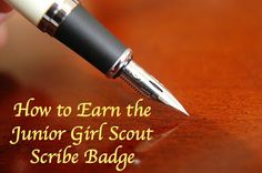 How to Earn the Junior Girl Scout Scribe Badge-complete meeting plans