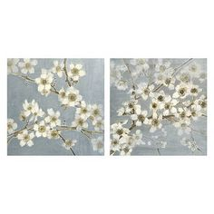 2-pc. Silver Blossoms Wall Art Set