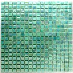 pate de verre mosaïque Rainbow vert