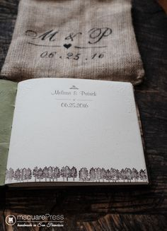 Moraine Lake Wedding Guestbook