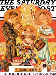 Saturday Evening Post cover 'Silent Night' by JC Leyendecker, December 28, 1935