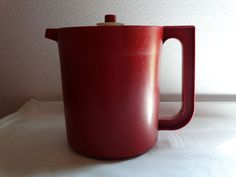 Small Maroon/Cranberry color  VINTAGE TUPPERWARE PITCHER