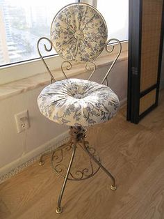 antique vanity chair leather high back 87 best my new images in 2019 kitchen living room boudoir vintage decorative gold metal swivel shabby chic floral ebay