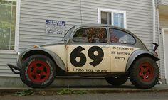 OLD PARKED CARS: 1970 Volkswagen Beetle Baja Bug.