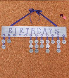 Classroom Birthday Ideas -- DIY Birthday Board from @joannstores | School Birthday